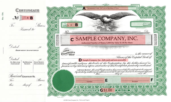 Corporate supplies north carolina stock certificate if selecting printed corporate stock certificates the following options are available for printing yadclub Image collections