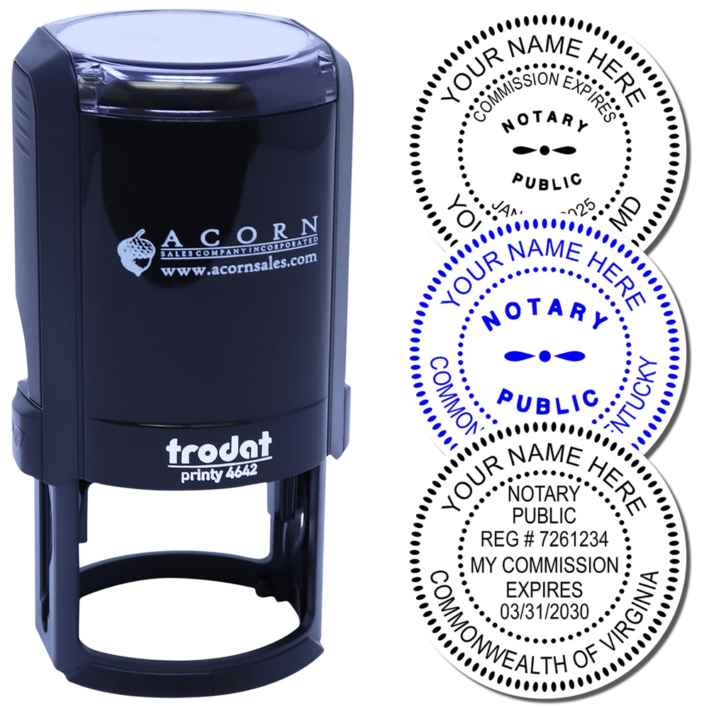 Self Inking Notary Public Stamp Round Notary Seal