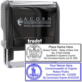 Self Inking State Seal Stamp