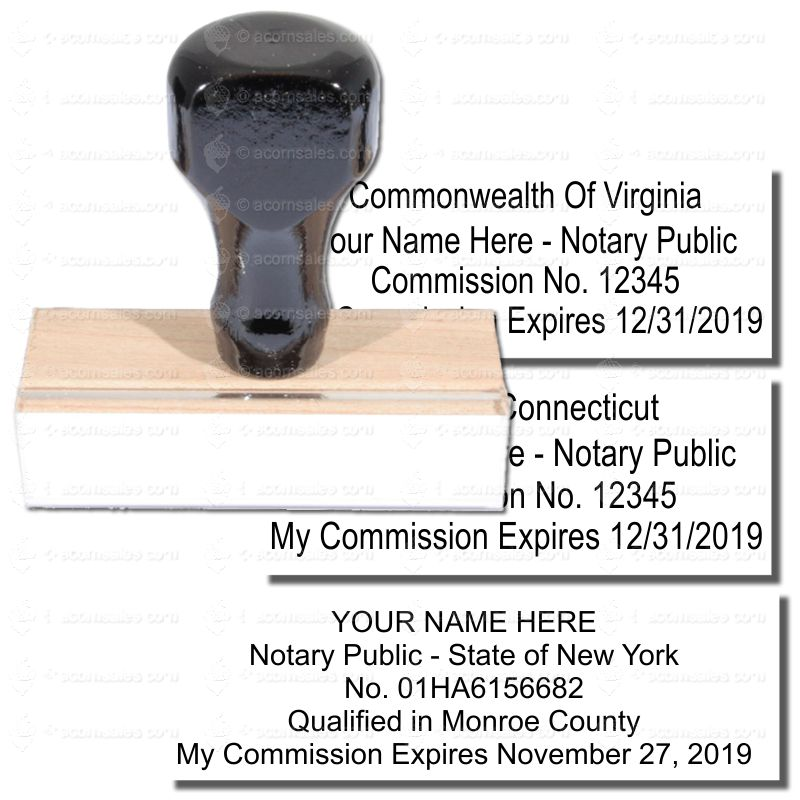 Regular Commission Id Stamp Notary Supplies Acorn Sales