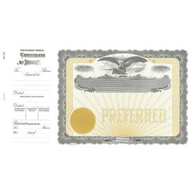Preferred Stock Certificate Form Goes Certificate - Preferred stock certificate template