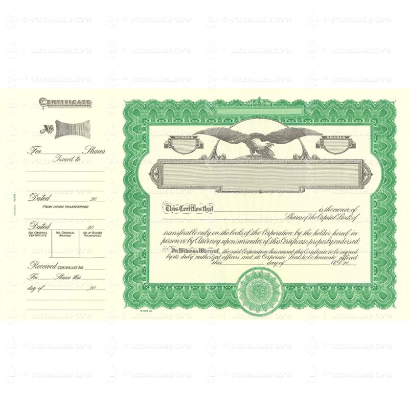 Blank Stock Certificate Template from www.acornsales.com