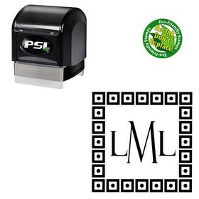 buy monogram stamps initial stampers address stamps
